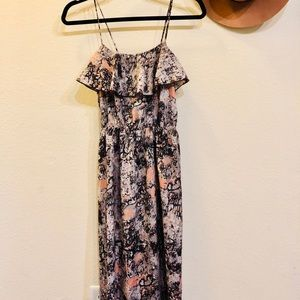 Size S Maxi Dress with stretch open back detail